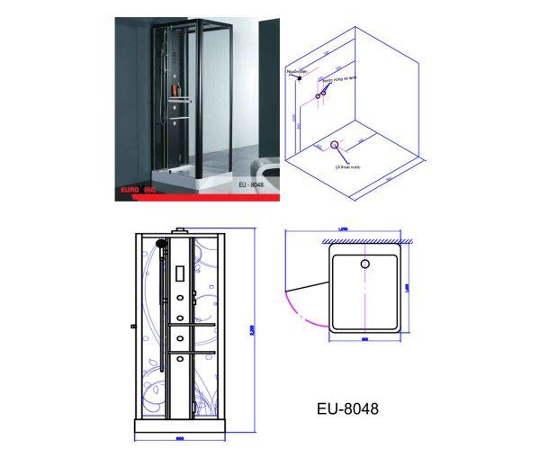 Phòng xông hơi Euroking EU 8048, giá bán: 42.300.000 đ