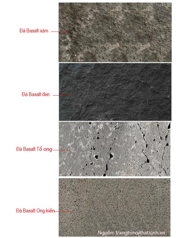 các loại đá bazan