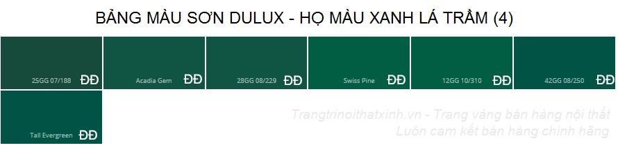 Bảng màu sơn dulux 31