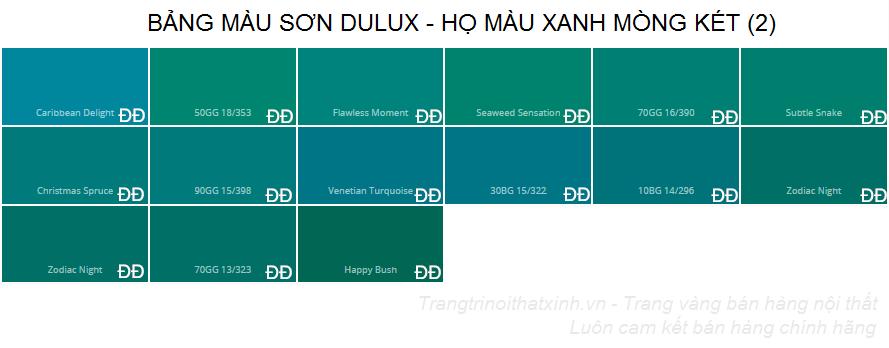 Bảng màu sơn dulux 29