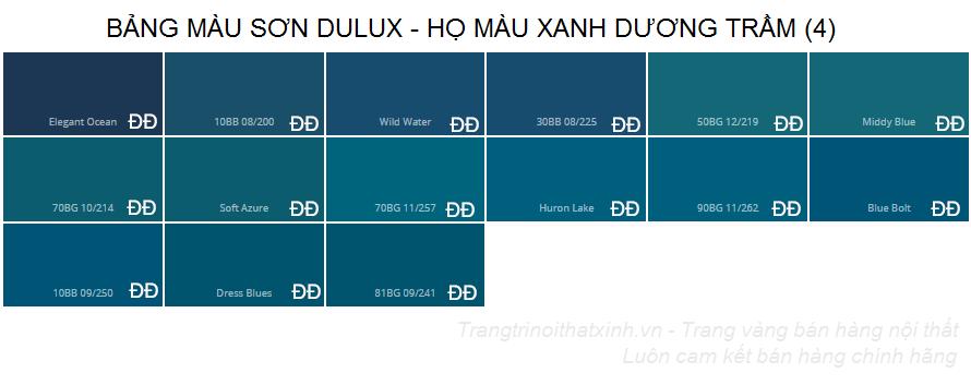 Bảng màu sơn dulux 19