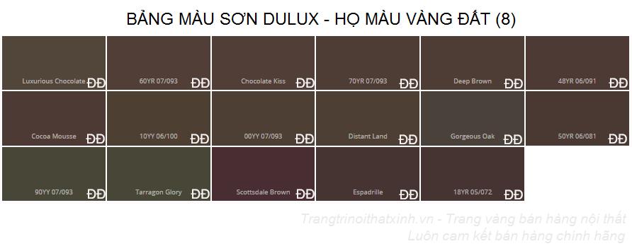 Bảng màu sơn dulux 3