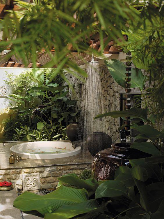 phòng tắm lộ thiên
