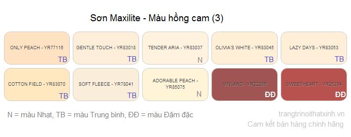 bang mau son maxilite 34
